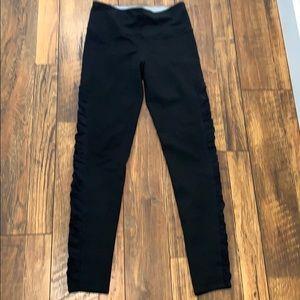 Splendid black leggings Ruched on sides S